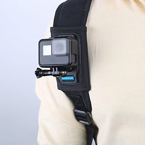 TELESIN バックパックマウントJ-フックバックル Gopro Hero7/6/5/4/3/2、Gopro session、Gopro fusionXiaomi Yi,SJCAMなどのスポーツカメラに対応 (バックパックサイズ:8mm-16mm)