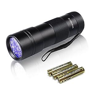 Vansky紫外線 ブラックライト UVライト目には見えない汚れに対策に (ブラック)