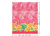 ピンクのハワイアンファブリック ハイビスカス・モンステラ・ヤシ柄 fab-2592Pi 【ハワイ生地・ハワイアンプリント】