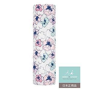 aden + anais (エイデンアンドアネイ) 【日本正規品】 モスリンコットン おくるみ 1枚 trail blooms - flora single swaddle-8960