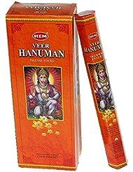 HEM (ヘム) インセンス スティック へキサパック ハヌマーン ハヌマン香 6角(20本入)×1箱 [並行輸入品] Hanuman