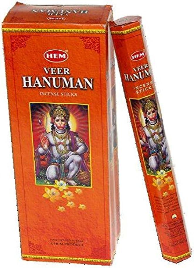 率直な火起こりやすいHEM (ヘム) インセンス スティック へキサパック ハヌマーン ハヌマン香 6角(20本入)×1箱 [並行輸入品] Hanuman