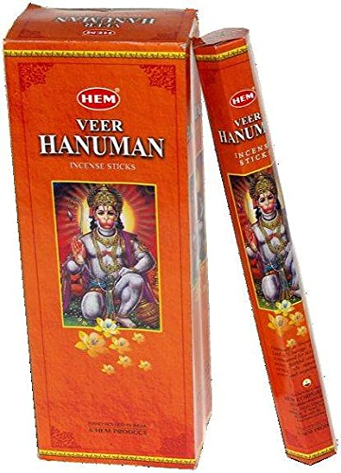 パズル空酔っ払いHEM (ヘム) インセンス スティック へキサパック ハヌマーン ハヌマン香 6角(20本入)×1箱 [並行輸入品] Hanuman