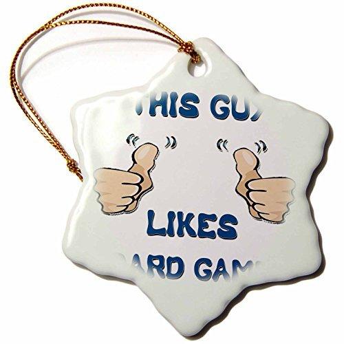 Angel OrnamentsブロンドデザインThis Guy Likes With Thumbs–This Guy Likesボードゲーム–CMスノーフレーク磁器飾り