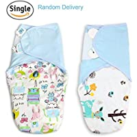 Ztacking Swaddle Baby Blanket Infant Baby Wrap 100% Cotton Softest Breathable Multi-function Muslin Sleep Sack Receiving Blanket for Kids Toddler Newborn 0-6 Months- Unisex with Baby Bib (blue) 【joybaby】 [並行輸入品]