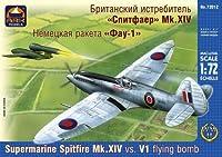 ark model 1/72 スーパーマリン スピットファイアーMk.14 英国戦闘機 プラモデル
