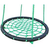 ウェブブランコ – 24インチスパイダーロープツリースイング – アウトドア 公園 裏庭 おもちゃ