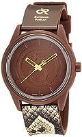 [シチズン Q&Q] 腕時計 キューアンドキュー スマイルソーラー The RED LIST Limited Collection ビルマニシキヘビ RP00-035 ブラウン