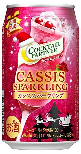 アサヒ カクテルパートナー 期間限定 カシススパークリング 缶 350ml×24本