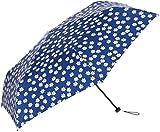 [ムーンバット] フロータス【FLO(A) TUS】 超撥水・スリム・軽量・折りたたみ傘(手開き)・UV マーガレット柄 31-007-20020-02 レディース ネイビーブルー 日本 親骨55㎝ (FREE サイズ)