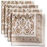 Maison d' Hermine Allure 100% Cotton Set of 4 Napkins 20 Inch by 20 Inch