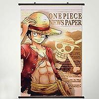 ウォールスクロールポスターファブリックペイントアニメOne Piece Monkey D Luffy 383 17.7x26.5 Inches