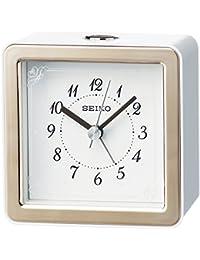 セイコー クロック 目覚まし時計 アナログ LEDバックライト 薄ピンク KR898P SEIKO