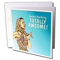 面白いレトロgirl- Another Day being Totally Awesome–グリーティングカード、6x 6インチ、6のセット(GC 219492_ 1)
