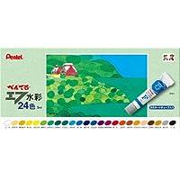 ぺんてる 絵の具 エフ水彩 WFR-24 ラミチューブ入り 24色