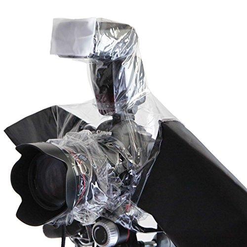 ストロボ スピードライト 付けたまま装着できる 一眼レフ カメラ 用 レインカバー 防水 防塵 カバ...