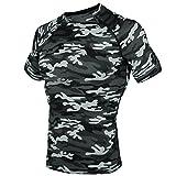 (ドィアルスキン)DRSKIN スポーツインナーウエア 半袖 ショートシャツ [UVカット・吸汗速乾] コンプレッションウェア (M, SMGYN063)
