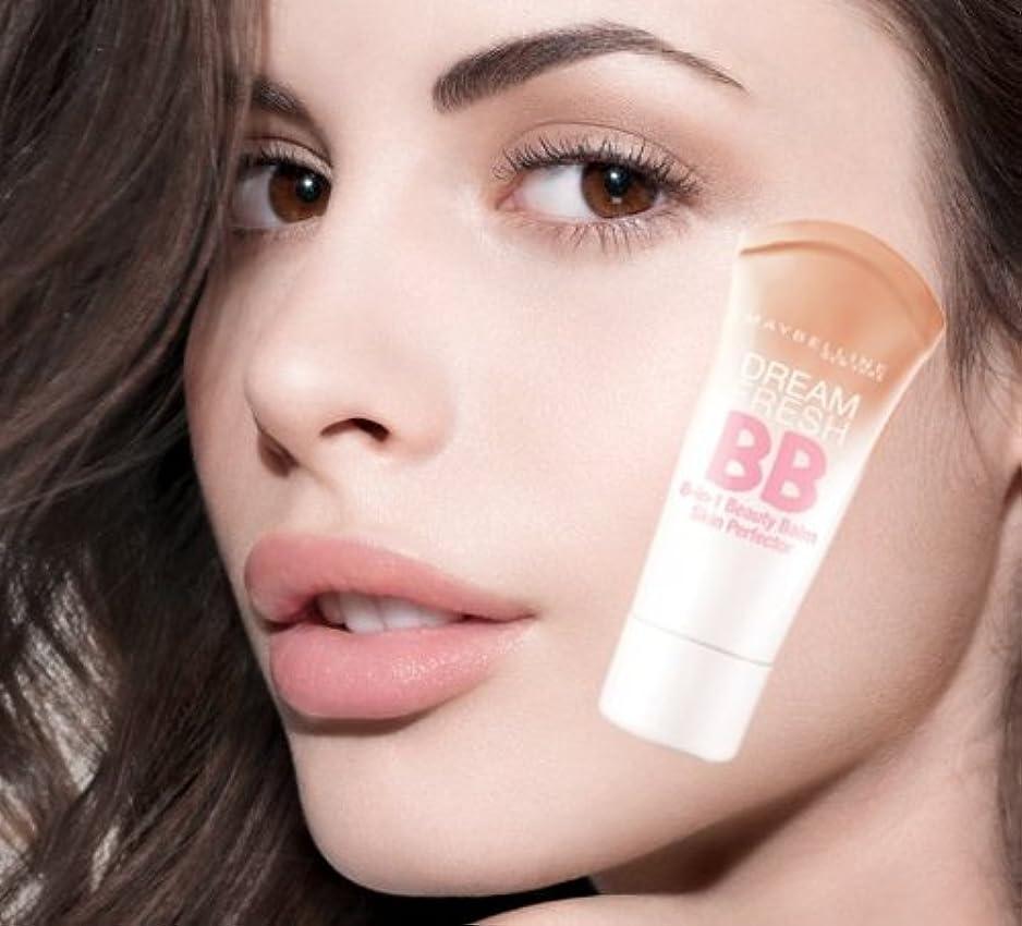 悲しみリボンブリークメイベリン BBクリーム ミディアムカラー SPF 30*Maybelline Dream Fresh BB Cream 30ml【平行輸入品】