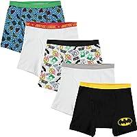 DC Comics Boys Justice League 5 Pack Boxer Briefs Underwear - Multi