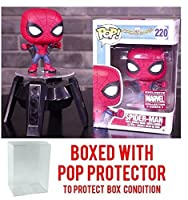 Funko Pop Marvel Collector Corps: Spider-Man Homecoming - Spider-Man with Web Wings Exclusive - Vinyl Figure (Bundled with Pop BOX PROTECTOR CASE)