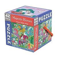 Mudpuppy Majestic Horses 42 Piece Cube Puzzle