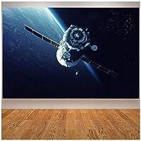 地球空間の周りに飛んで月空間軌道ポスターリビングルームプリントアートプリントキャンバス絵画家の装飾
