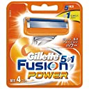 ジレット 髭剃り フュージョン 5 1 パワー 替刃4個入