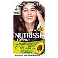 [Garnier ] ガルニエNutrisse永久染毛剤ダークブラウン4 - Garnier Nutrisse Permanent Hair Dye Dark Brown 4 [並行輸入品]