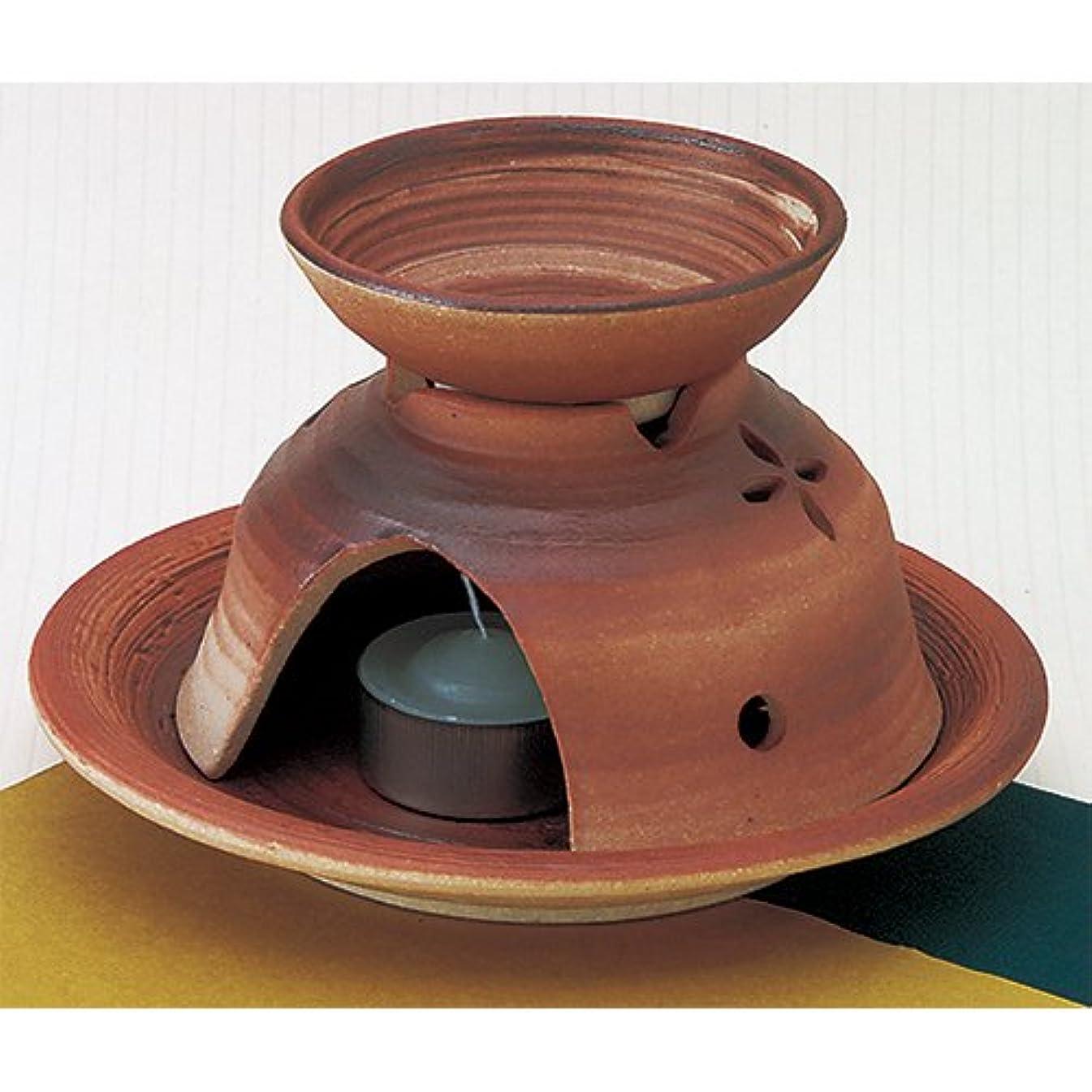 巡礼者葉っぱ素敵な香炉 花抜き 茶香炉 [R15xH9.5cm] HANDMADE プレゼント ギフト 和食器 かわいい インテリア