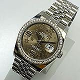 [ロレックス] ROLEX 腕時計 デイトジャスト 116244 ブラウンフラワー ダイヤベ ゼル メンズ 新品同様品