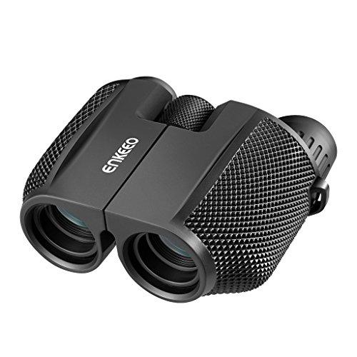 enkeeo 12x25 双眼鏡 小型軽量 256g 95x100mm 折畳み可能 BAK4 ポロプリズム式 IP54防水 キャリングケース付 スポーツ観戦 バードウォッチング 観劇 コンサート ライブなどに BT5571【メーカー保証】