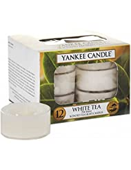 ヤンキーキャンドル(YANKEE CANDLE) YANKEE CANDLE クリアカップティーライト12個入り 「ホワイトティー」