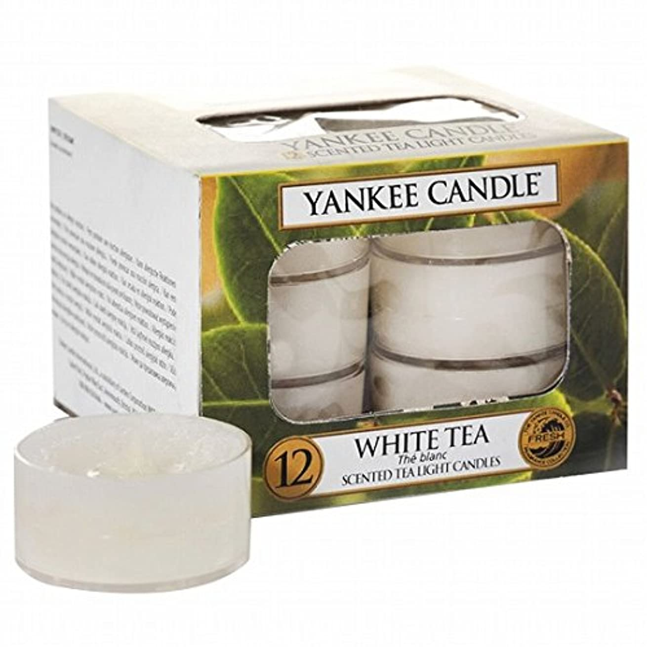 実験をする花散らすヤンキーキャンドル(YANKEE CANDLE) YANKEE CANDLE クリアカップティーライト12個入り 「ホワイトティー」