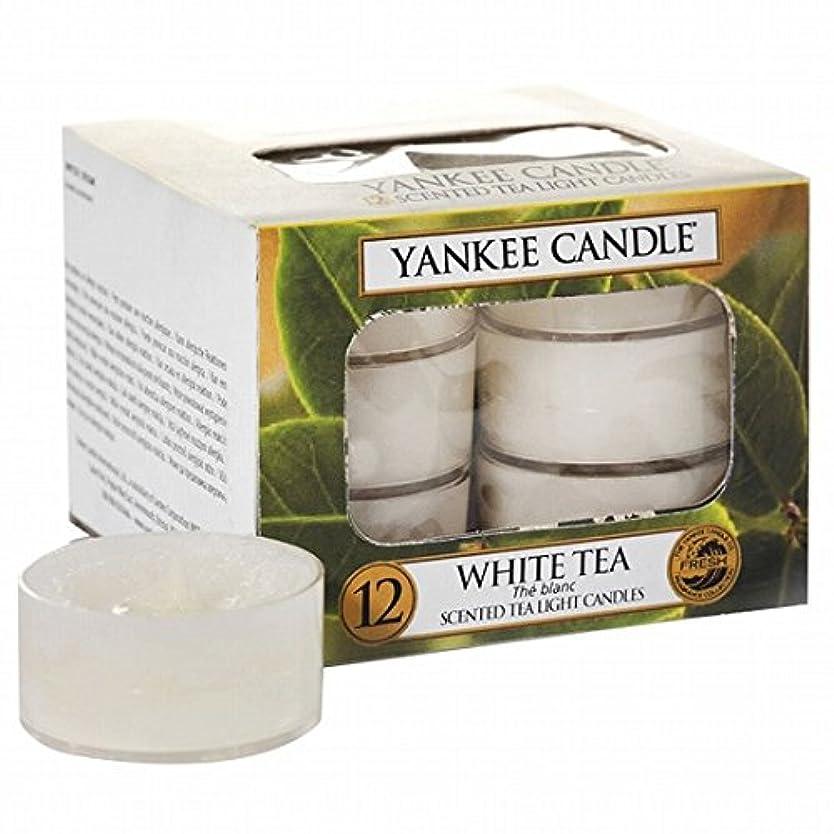 ピストル微視的液化するヤンキーキャンドル(YANKEE CANDLE) YANKEE CANDLE クリアカップティーライト12個入り 「ホワイトティー」