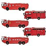 ニッポンの働く車キット 消防車両1 全5種フルコンプ エフトイズコンフェクト set 1/500 Nゲージサイズ