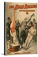 High Rollers–Dunkingの女性のビールポスター 24 x 36 Gallery Canvas LANT-3P-SC-4340-24x36