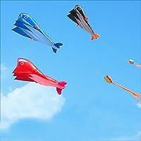 Dolphin Kite 3dおもちゃアウトドア楽しいスポーツ防水性は、折りたたみ時、簡単に持ち運びポータブルFlying For Adultランダム色
