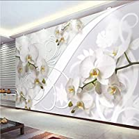 Wxmca カスタム壁画壁紙現代のファッション蛾蘭花壁絵画リビングルームの寝室の背景壁の装飾-350X250Cm