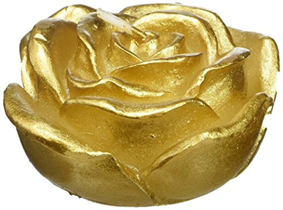 野心的無駄収束Zest Candle CFZ-101 3 in. Metallic Gold Rose Floating Candles -12pc-Box