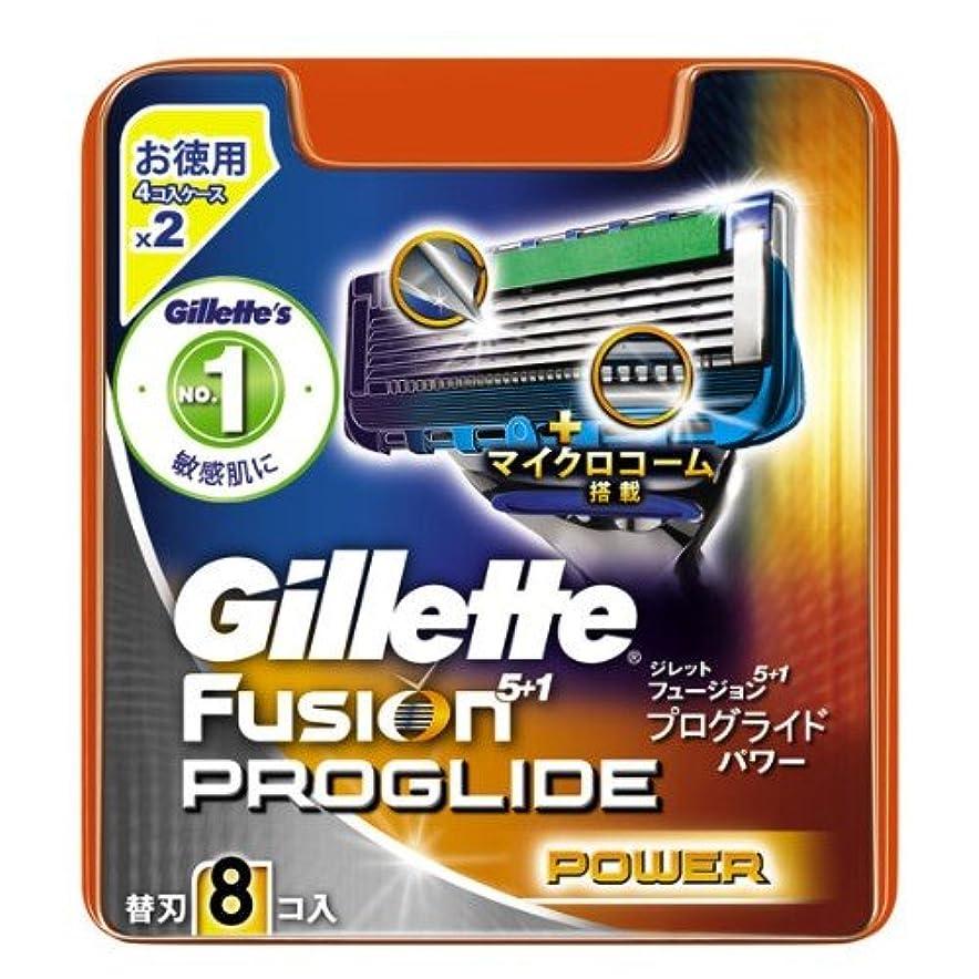 各動力学圧縮するジレット プログライドパワー 専用替刃 8B