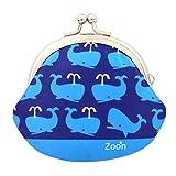 がま口 2.6寸 クジラ 財布 小銭入れ ブルー 日本製 ハンドメイド 鯨