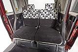 DBC 後席用シートカバー 軽自動車 5:5分割リクライニングシート用(2席分)ブラック (パールブラック)