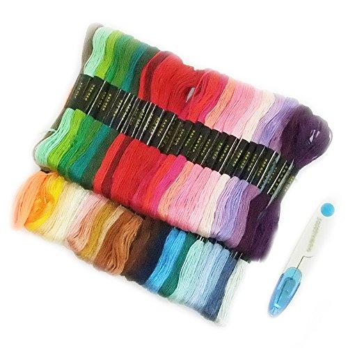 WAIWAIGOODS カラフル 刺しゅう糸 色とりどり 大量 多色組 + 糸切りはさみ セット (50本セット)