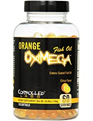 海外直送品CONTROLLED LABS Orange Oximega Fish Oil, Citrus Flavor, 120 SoftGels
