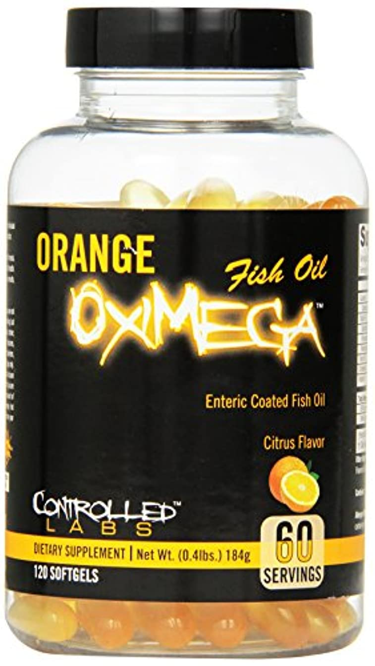地下ペルー噛む海外直送品CONTROLLED LABS Orange Oximega Fish Oil, Citrus Flavor, 120 SoftGels