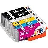 キャノン BCI-381 BCI-380XL 大容量 6色マルチパック Canon 互換 インク カートリッジ BCI-381(BK/C/M/Y/GY)+380XL BCI-380 増量ブラッ..