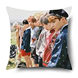 Fanstown KPOP BTS Bangtan Boys in the mood for love EPILOGUE:Young Forever throw pillow Soft velvet Core included with lomo cards (015) by Fanstown