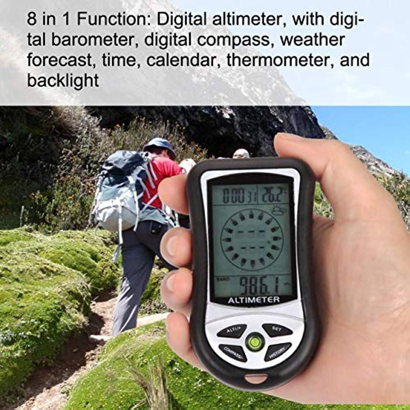 半円トーク面DeeploveUU 8で1デジタル液晶コンパス高度計気圧計サーモ温度時計カレンダー用屋外ハイキング釣り