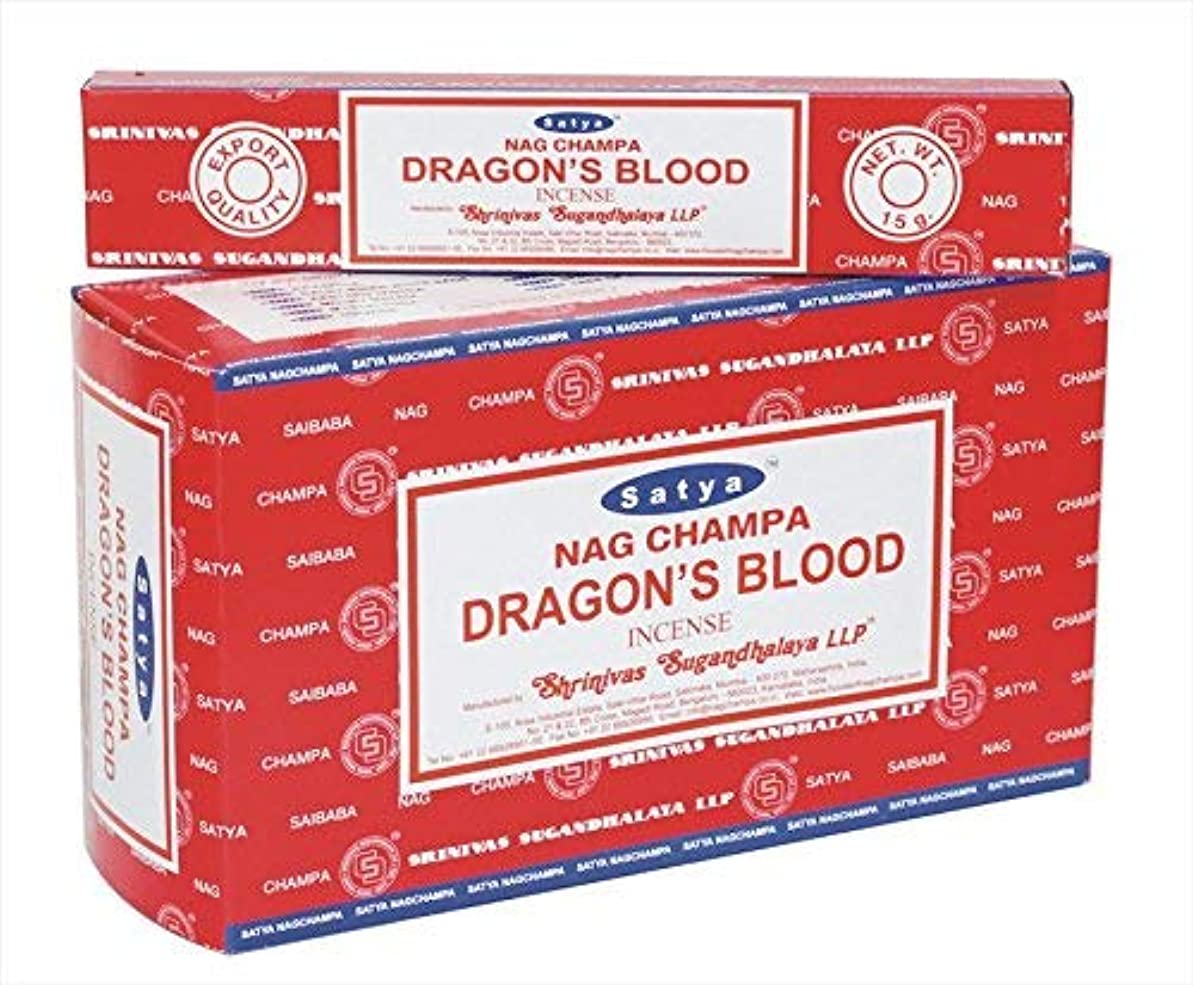 スタジオ羽公平なSatya Sai Baba Nagchampa Dragon Blood incense sticks Fragrance Agarbatti – パックof 12ボックス( 15各) GM - 180 gm