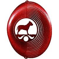 American Stafford / Pit Bull Circle Swirly Metal Wind Spinner 2205
